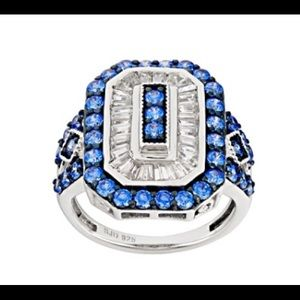 Arctic Blue Swarovski Ring